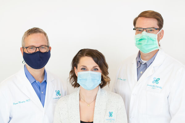 Louisville Family ENT staff wearing face masks